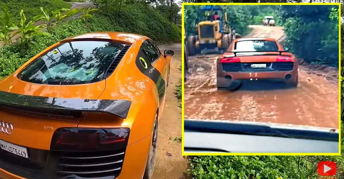 What happens when you take Audi R8 supercar off-road?