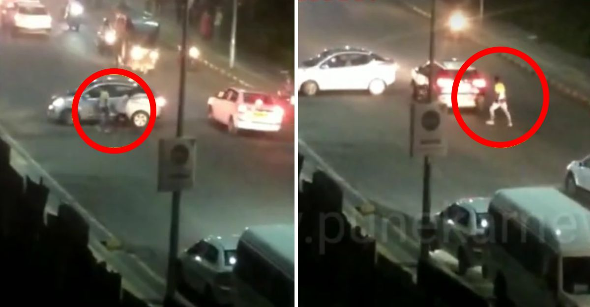 Goons attack cars & bikes with choppers in Pune: Arrested & paraded