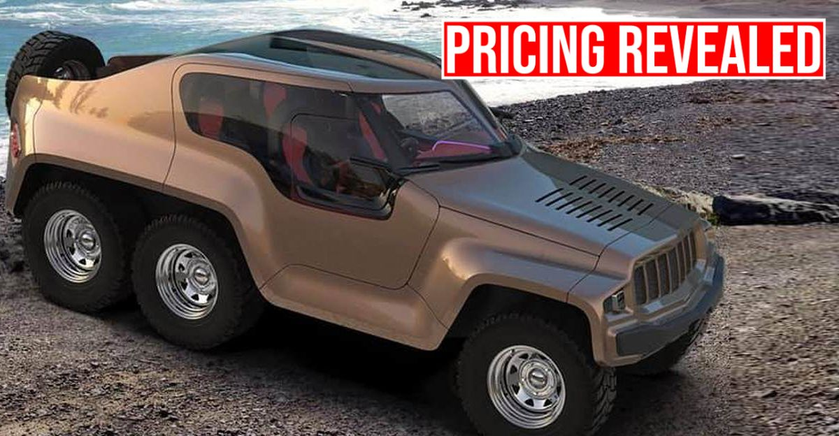 DC Design's 6×6 Mahindra Thar costs Rs. 70 lakhs
