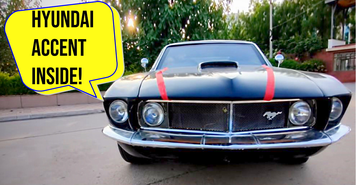 Hyundai Accent sedan modified into a 1969 Ford Mustang: Hot or Not? [Video]