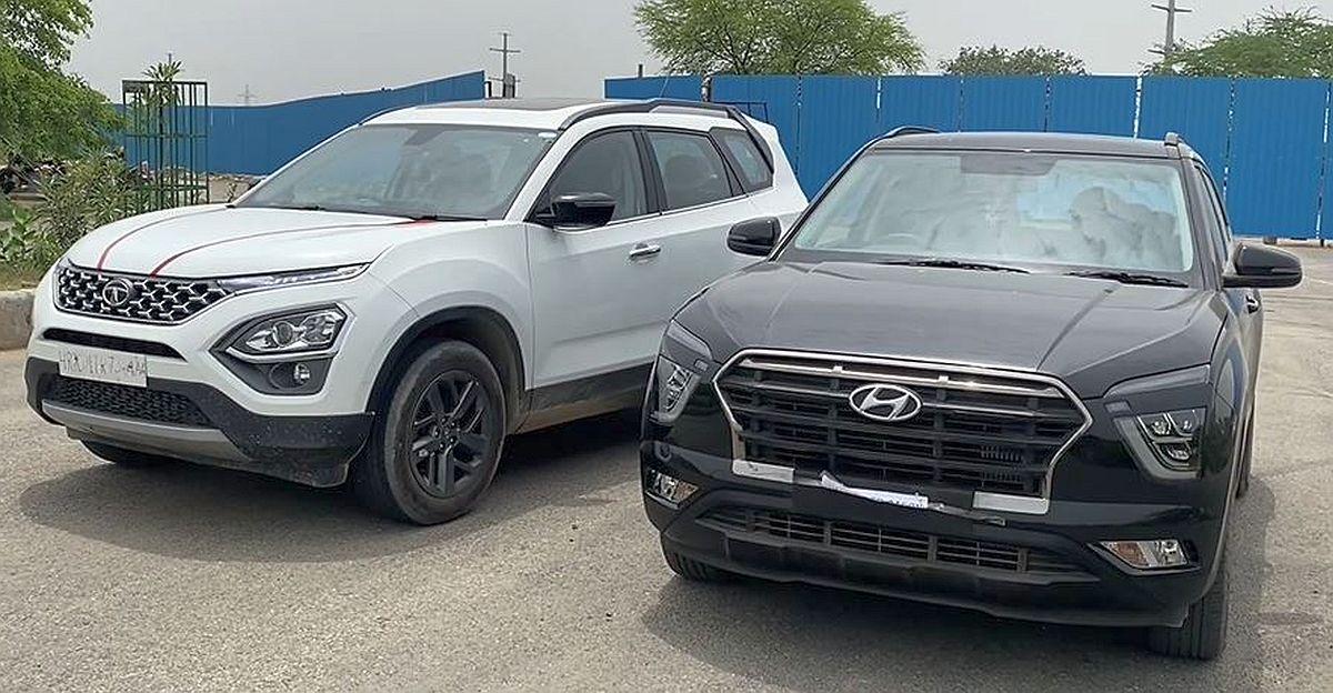 Tata Safari Diesel vs Hyundai Creta Turbo Petrol in a drag race