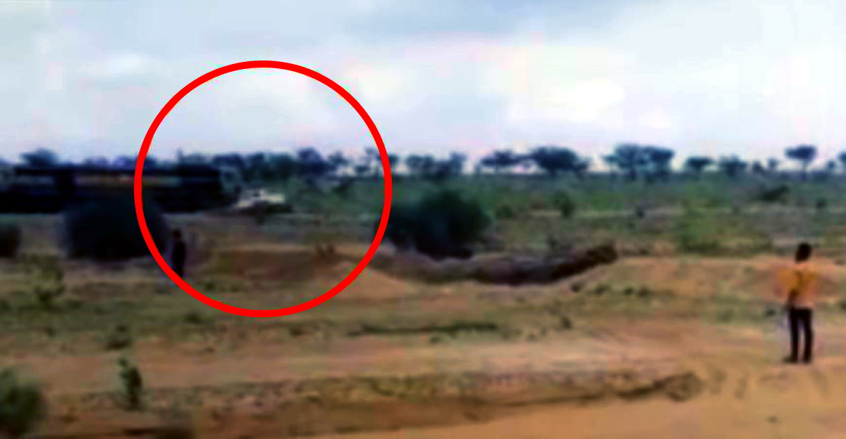 Mahindra Bolero owner takes a shortcut to save toll: Bolero gets hit by a train