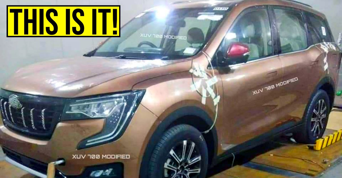 Upcoming Mahindra XUV700 7 seat SUV REVEALED through leaked pictures