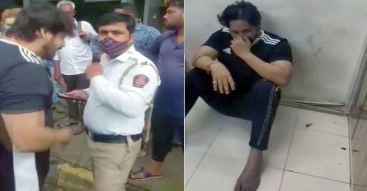 Man abuses traffic cop on road: Starts crying in police station