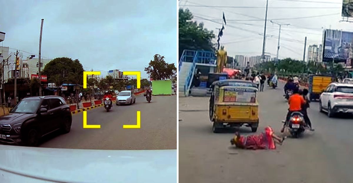 Minors hit an elderly woman while triple riding rashly: ARRESTED, parents booked