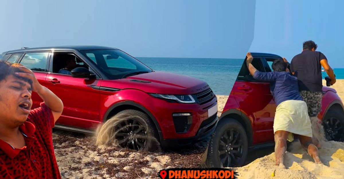 Range Rover Evoque SUV gets stuck on a beach: Rescued by locals
