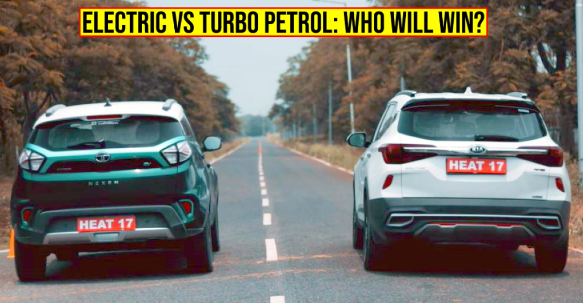 Can the Tata Nexon Electric SUV beat the Kia Seltos Turbo Petrol in a drag race: Here's the answer