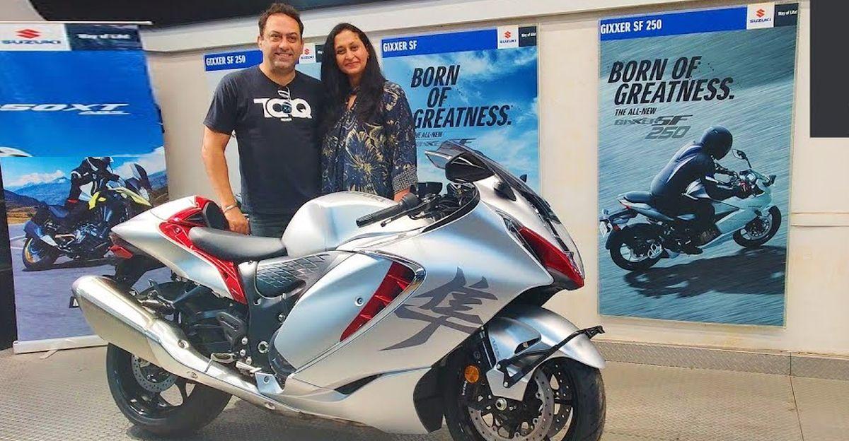 Wife gifts husband an all-new 2021 Suzuki Hayabusa superbike on his 50th birthday