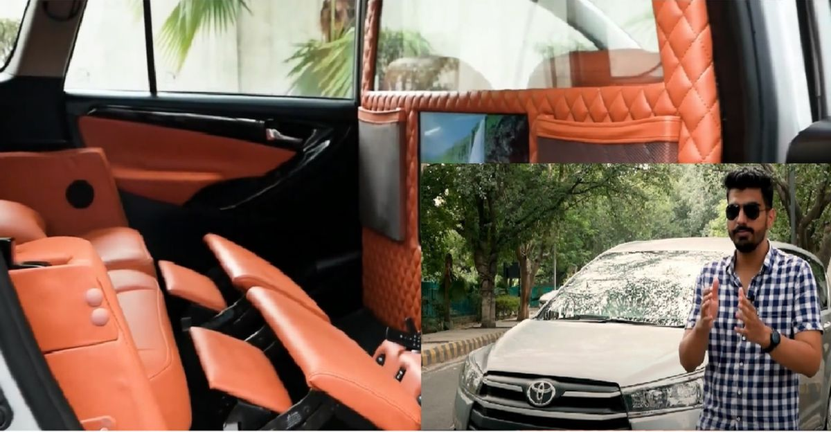 Toyota Innova Crysta by Garage 100 with modified interior looks like a premium lounge