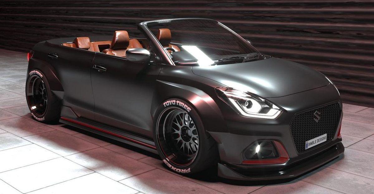 Maruti Suzuki Dzire re-imagined as a Cabriolet