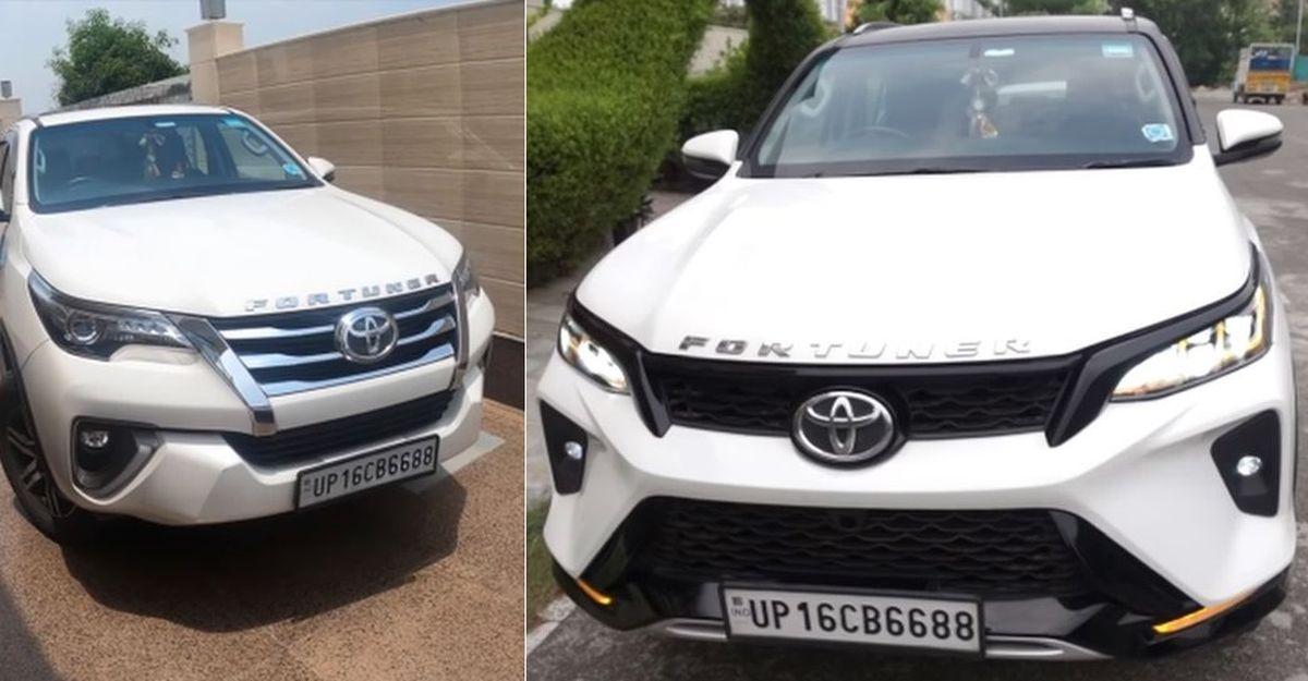 Toyota Fortuner pre-facelift converted to 2021 Toyota Legender