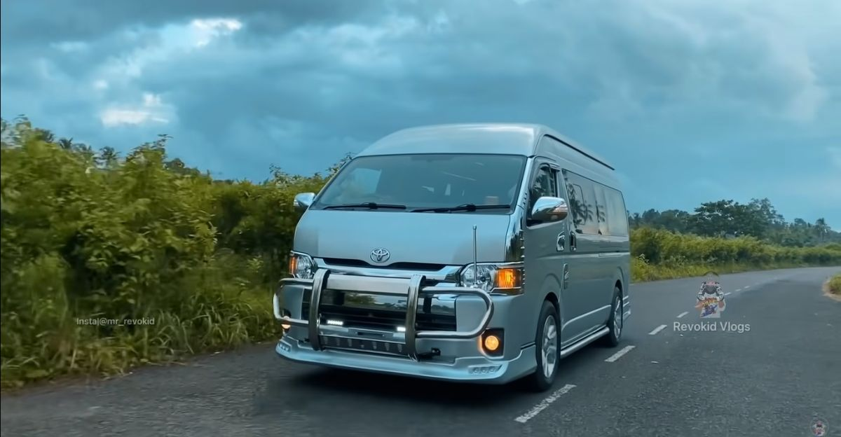 This Toyota Hiace is a home on wheels