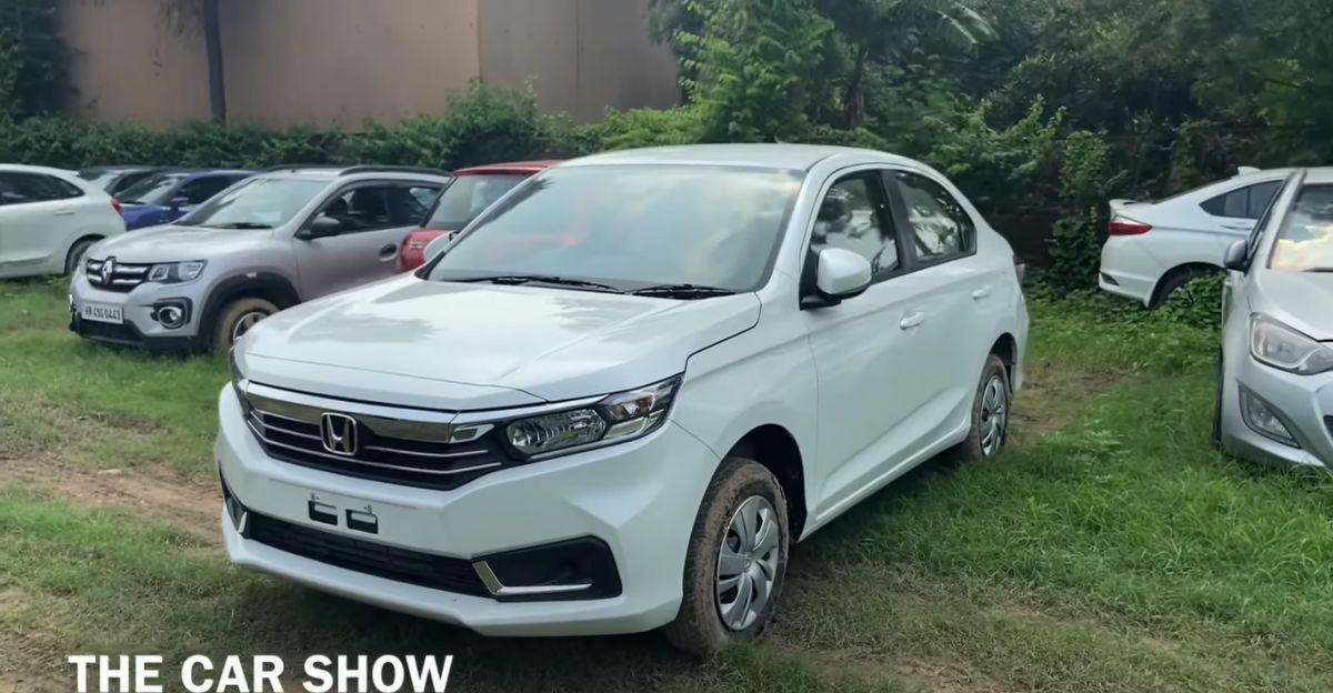Honda Amaze Facelift S CVT variant in a walkaround video