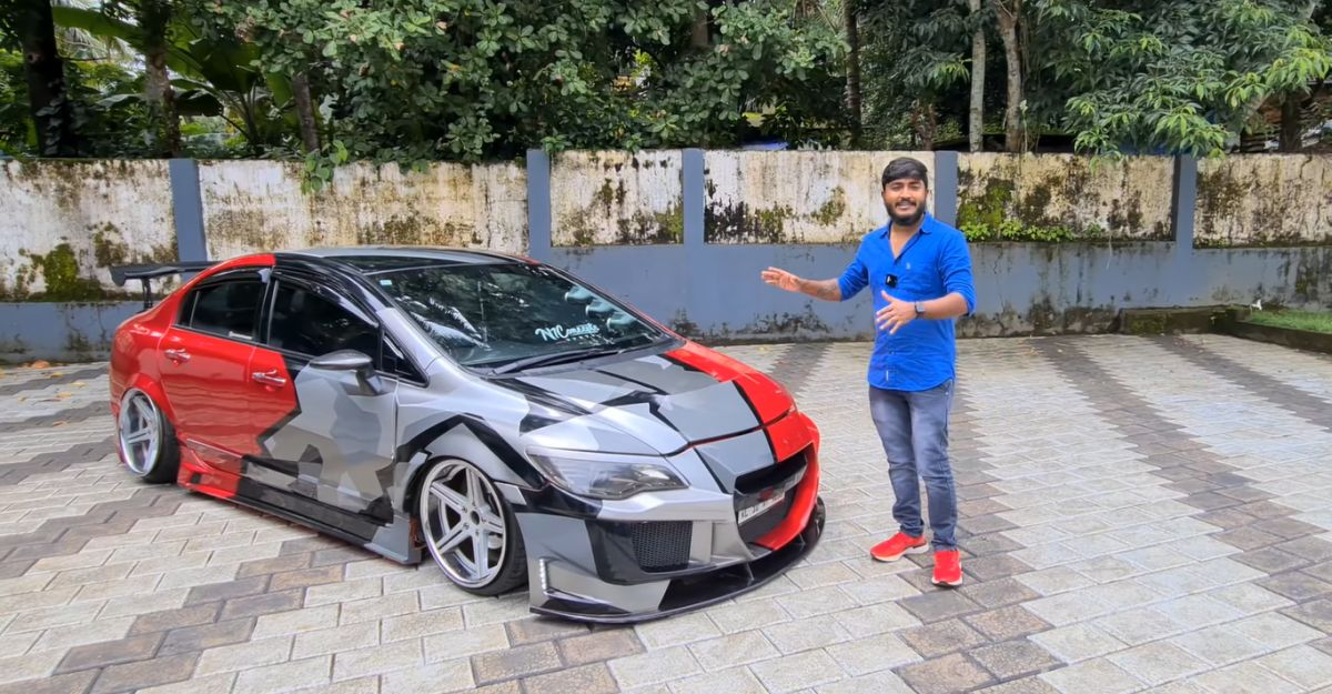 Honda Civic with modifications worth Rs 12 lakh looks killer