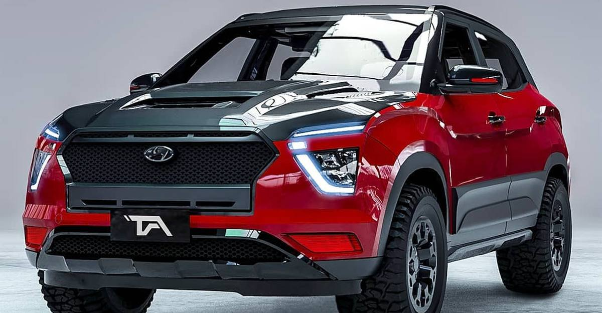 New Hyundai Creta compact SUV rendered as an off-roader