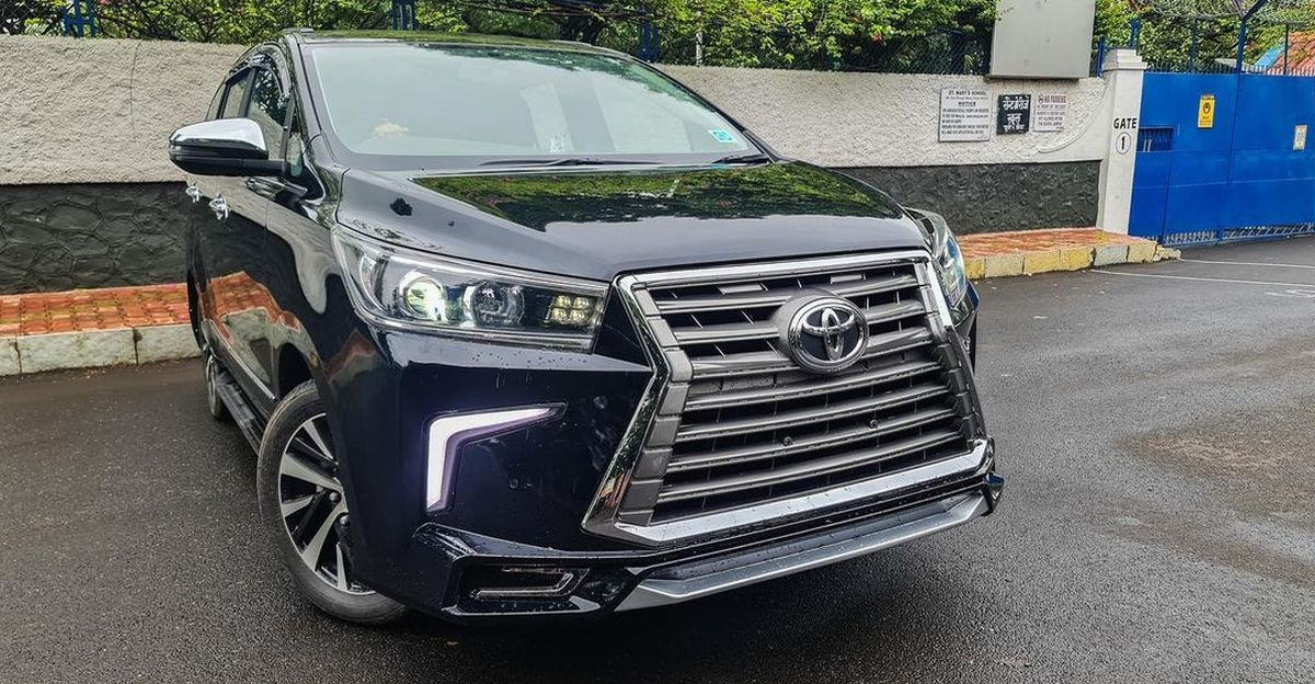 Toyota Innova Crysta with aftermarket body kit wants to be a Lexus