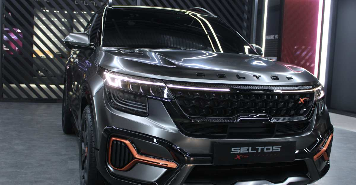 Kia Seltos X Line teased ahead of launch