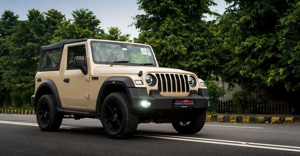 India's first Mahindra Thar with Mojave Sand Peelable paint looks cool