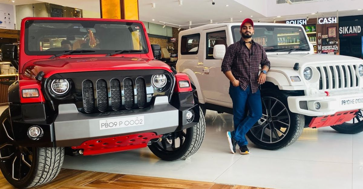 Mahindra Thar SUVs modified by Sikand Car looks unique