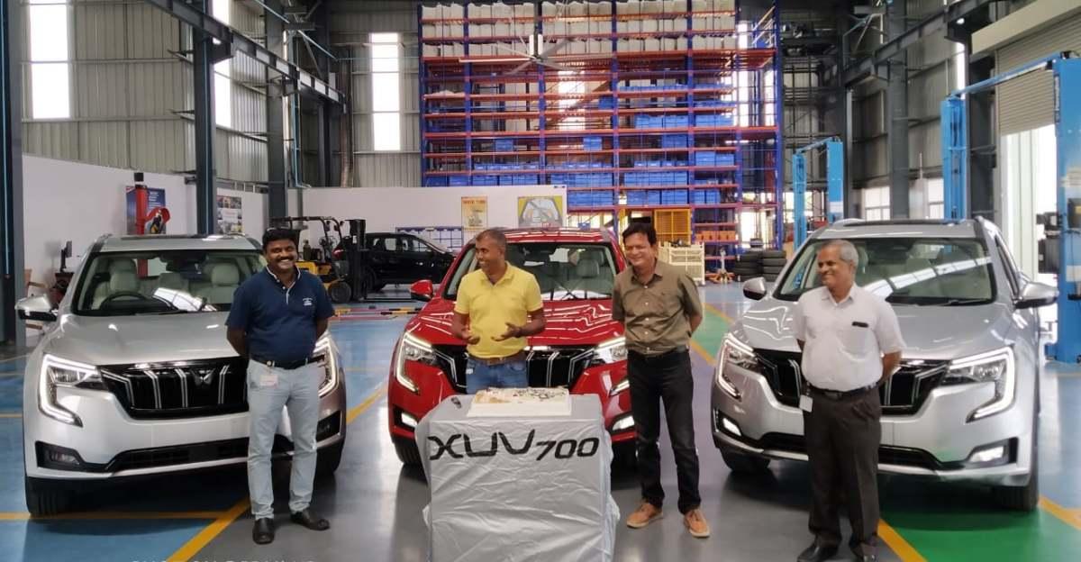 Mahindra XUV700 SUV soft launched at factory