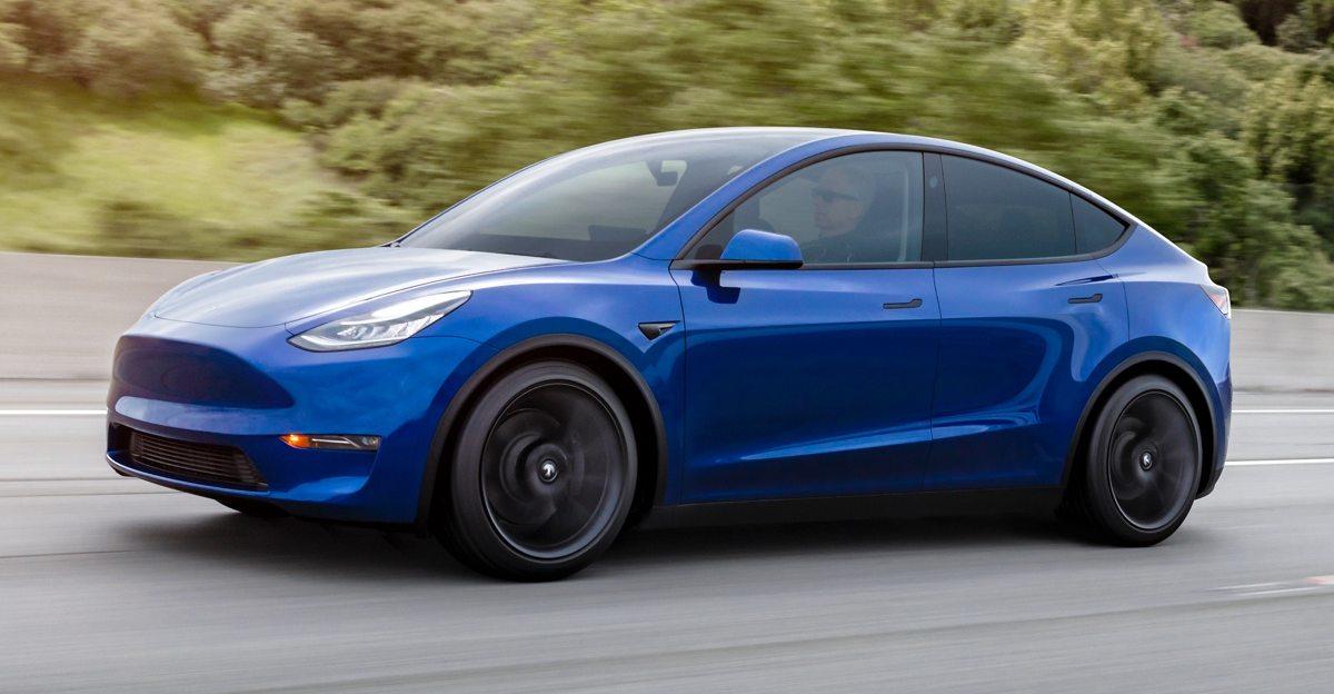 Tesla Model Y Electric SUV spied testing on Indian roads