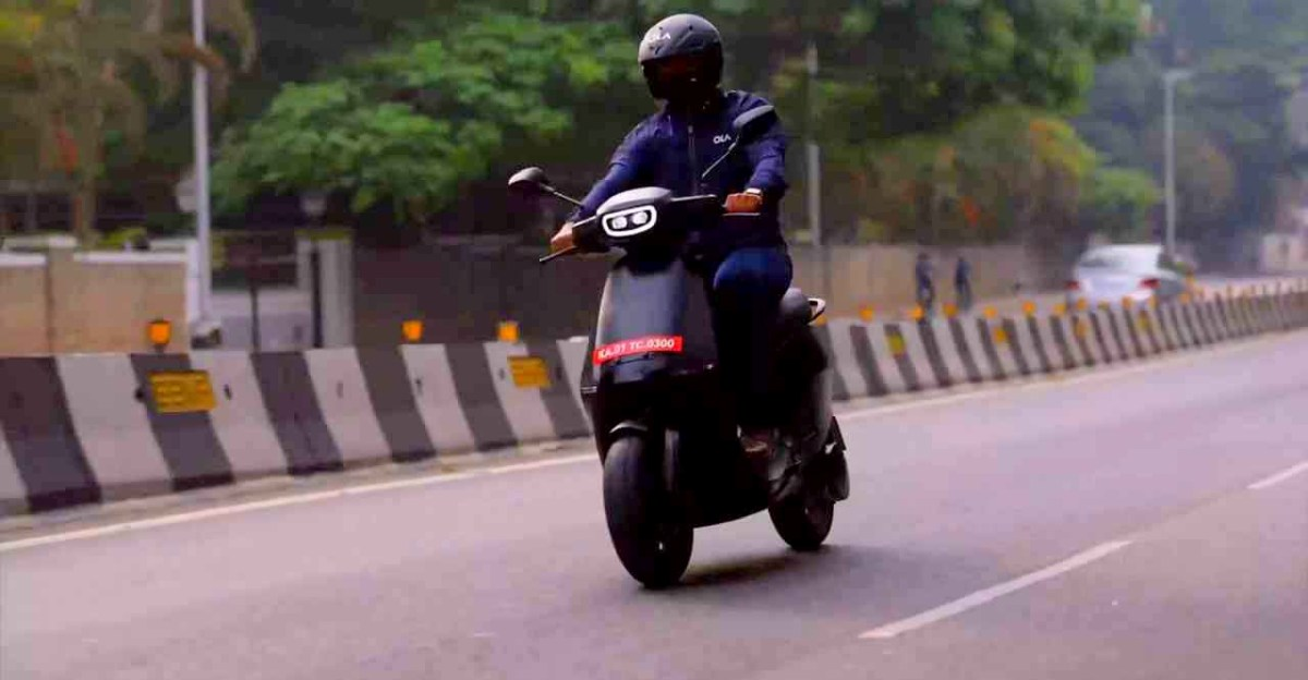 Ola Electric shows off the top speed of S1 pro electric scooter