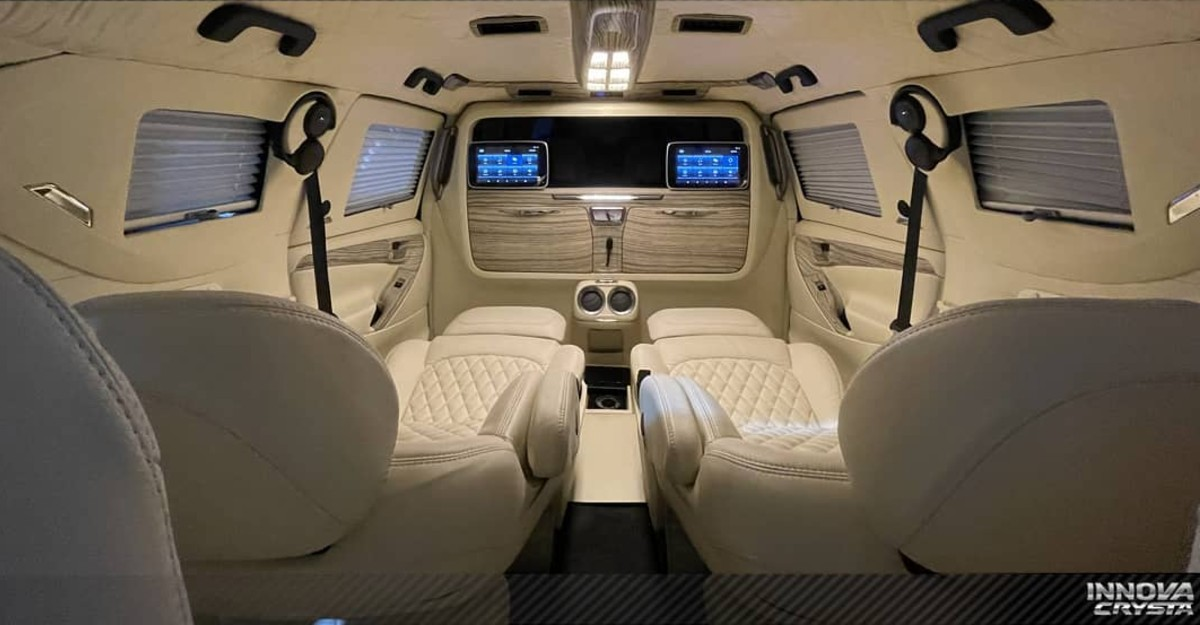 Toyota Innova Crysta transformed into a super luxurious lounge by Reddy Customs: Prices start from Rs. 4.44 lakh