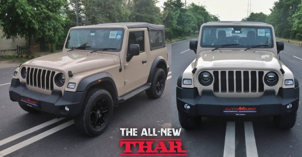 Modified Mahindra Thar with peel-able paint is a head turner