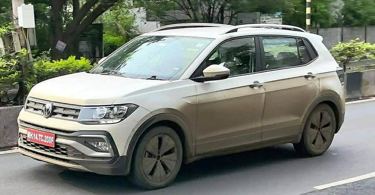 Volkswagen Taigun spotted without camouflage