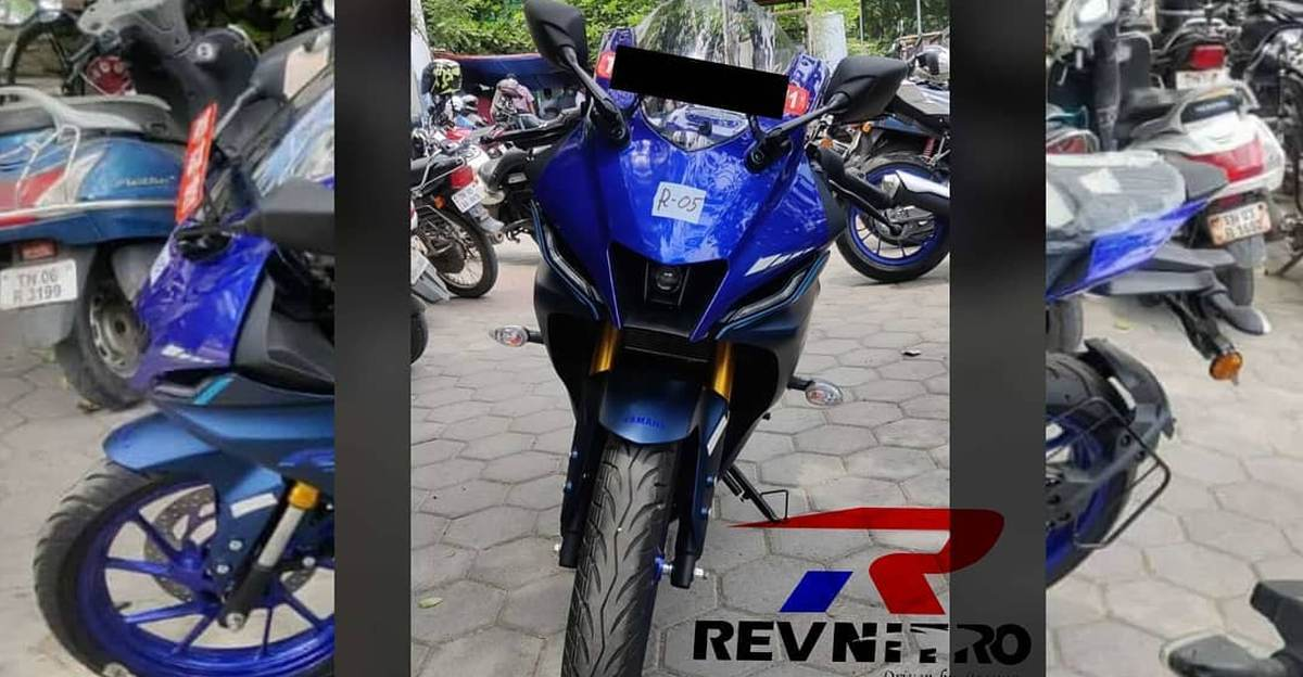 Yamaha R15M spotted at a dealership ahead of launch