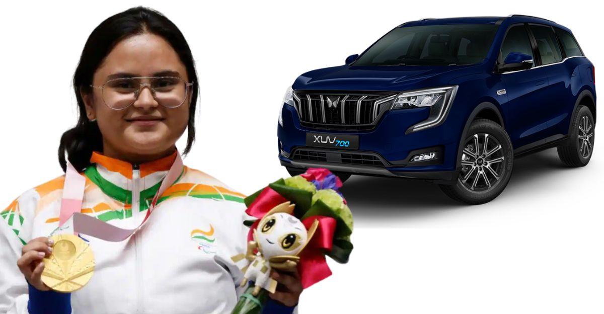 Anand Mahindra to gift custom made XUV700 SUV to Paralympic Gold Medalist Avani Lekhara