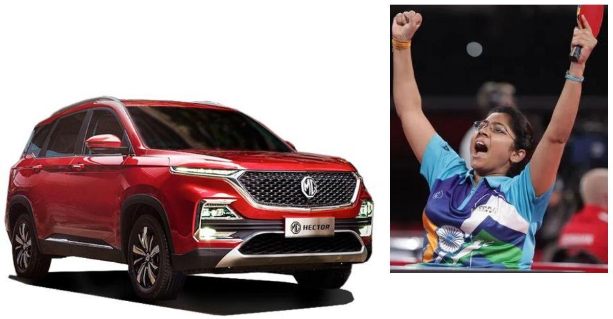 MG Motor India to gift a specially customised SUV to Paralympian Bhavina Patel