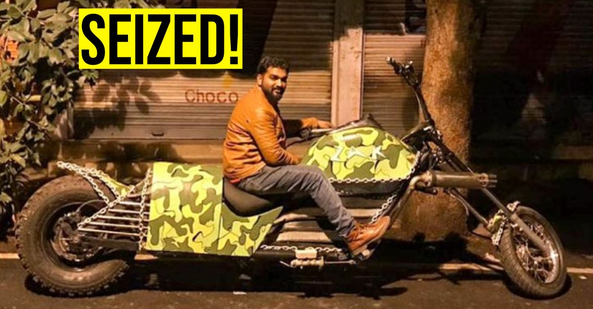 World-record winning modified chopper parked in workshop SEIZED by RTO officials in Bangalore [Video]