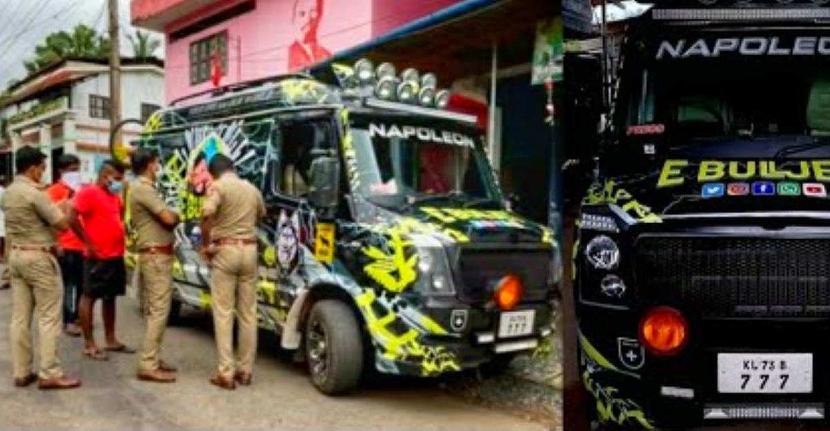 E Bull jet van-life modified Force Traveller seized, vlogger arrested!