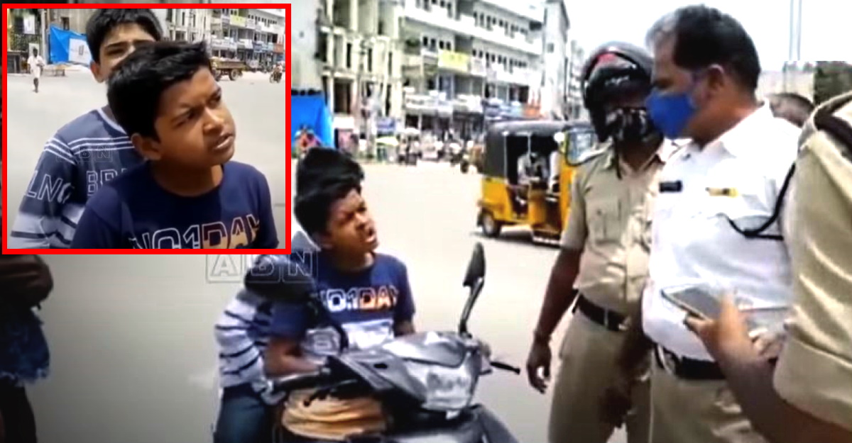 Cops stop underage rider without license on electric scooter: Confident kid convinces cops [Video]