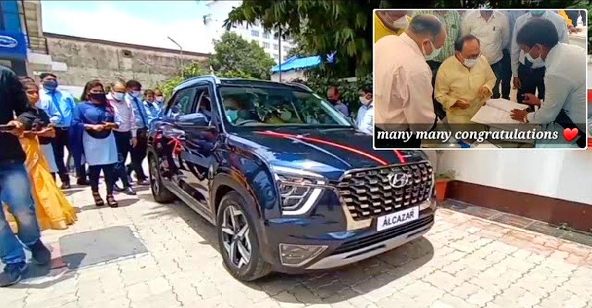 UP Cabinet Minister Siddharth Nath Singh gets a Hyundai Alcazar SUV