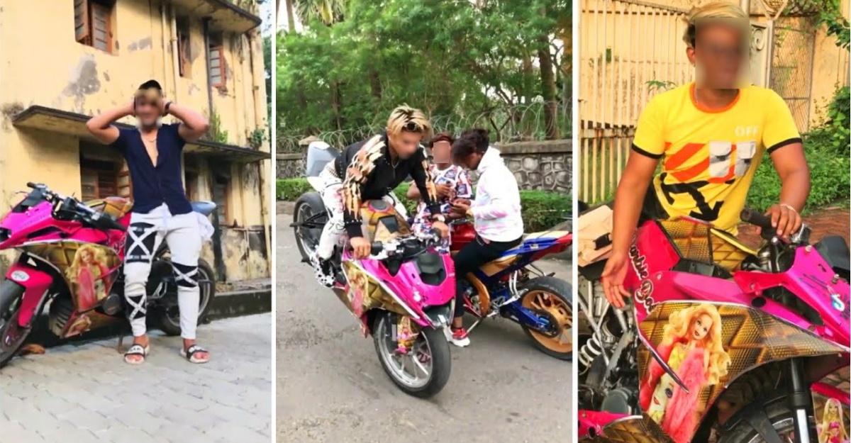 Mumbai Police books Barbie-theme KTM rider for stunting on public roads