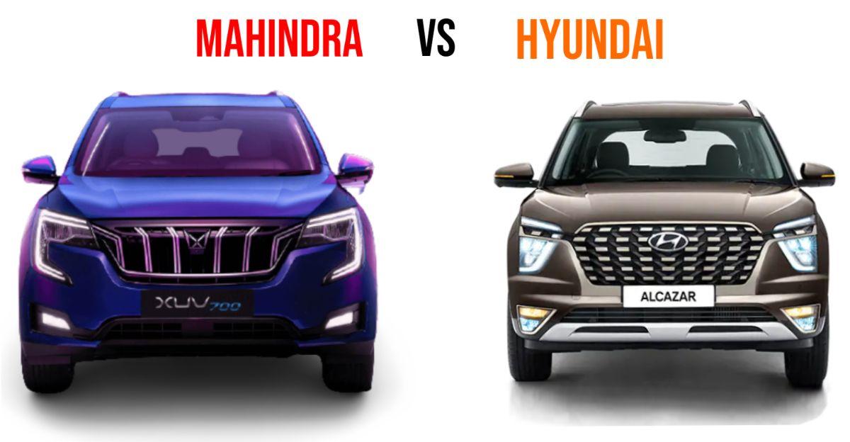 Mahindra XUV700 Vs Hyundai Alcazar: Spec comparison