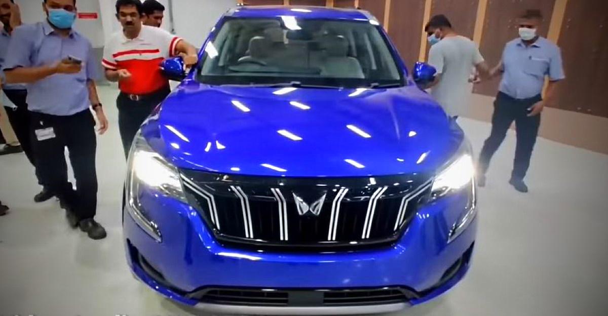 Mahindra XUV700 SUV detailed in a walkaround video