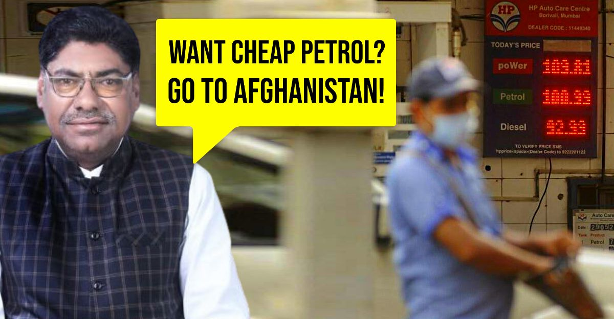 Politician when asked about high fuel prices: Go to Afghanistan, petrol is Rs. 50/liter there