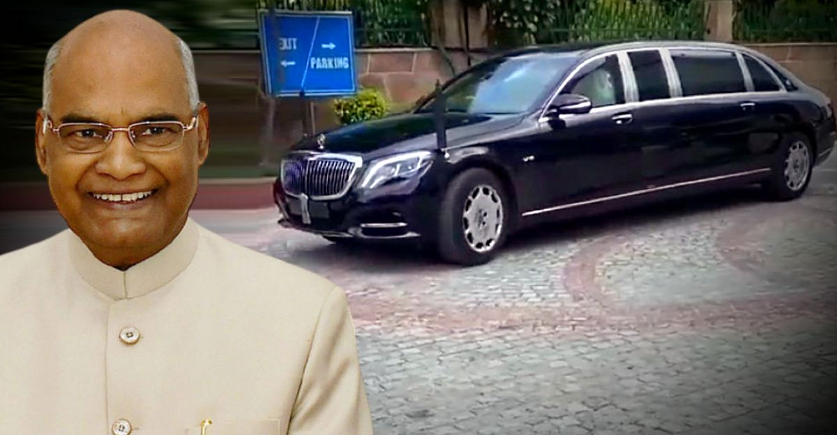 President Ramnath Kovind gets a brand-new Mercedes-Maybach S600 Pullman Guard before Independence Day