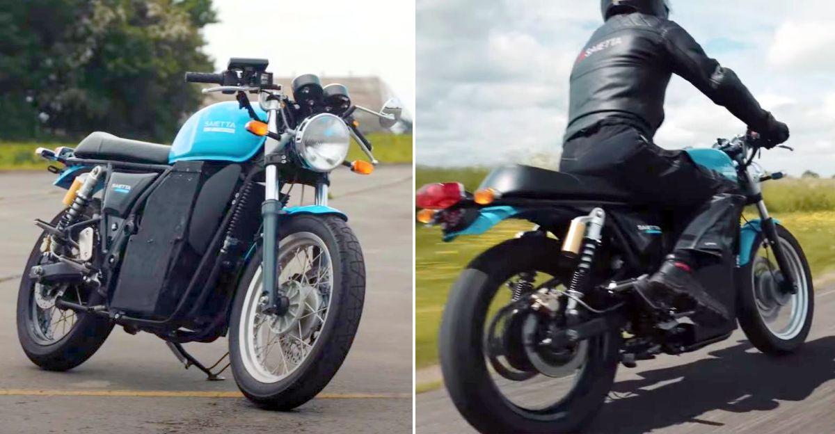 UK's Saietta group transforms Hero Xtreme & Royal Enfield Continental GT 650 into electric bikes