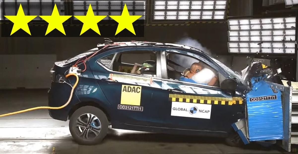 Just-launched Tata Tigor EV scores 4 star safety rating at Global NCAP crash test