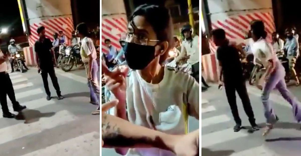 Woman thrashes cab driver in the middle of the road: Social media unites against her