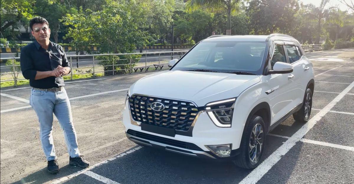 Hyundai Creta base E variant modified with Alcazar front grille looks neat