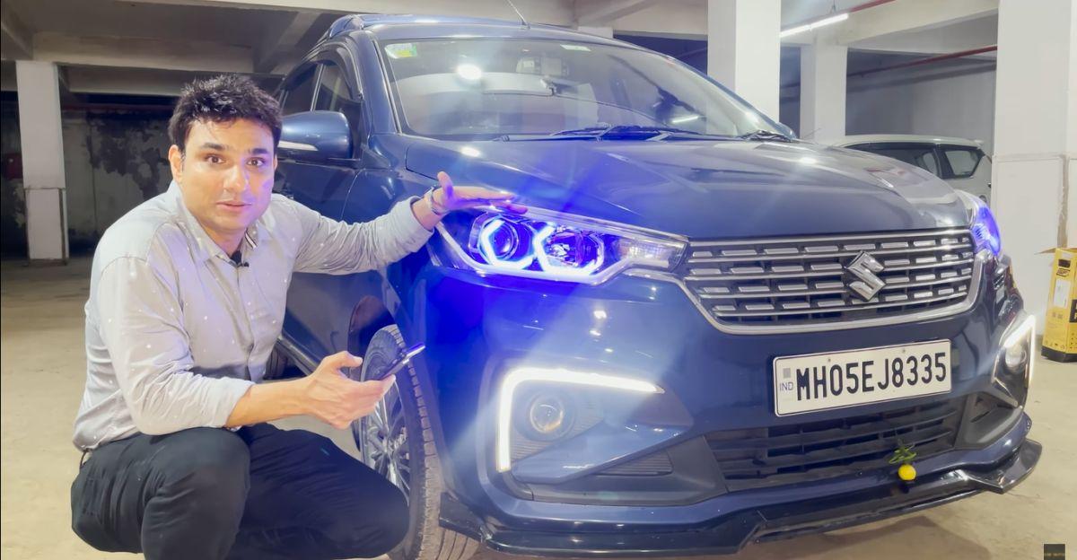 Maruti Suzuki Ertiga modified with electric tailgate is one-of-its-kind
