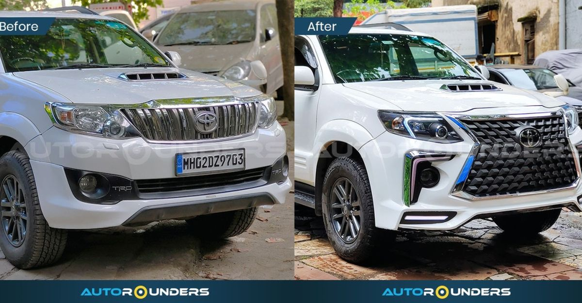This modified type 2 Toyota Fortuner with aftermarket body kit wants to be a Lexus