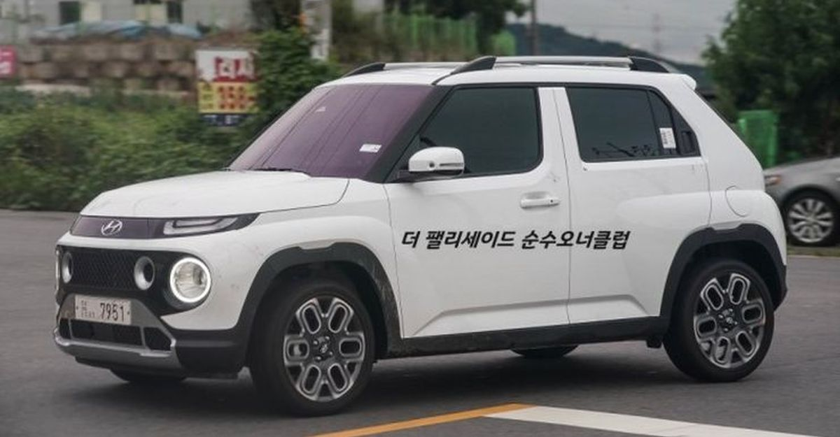 Hyundai Casper micro SUV: New live images of the Tata Punch rival surface