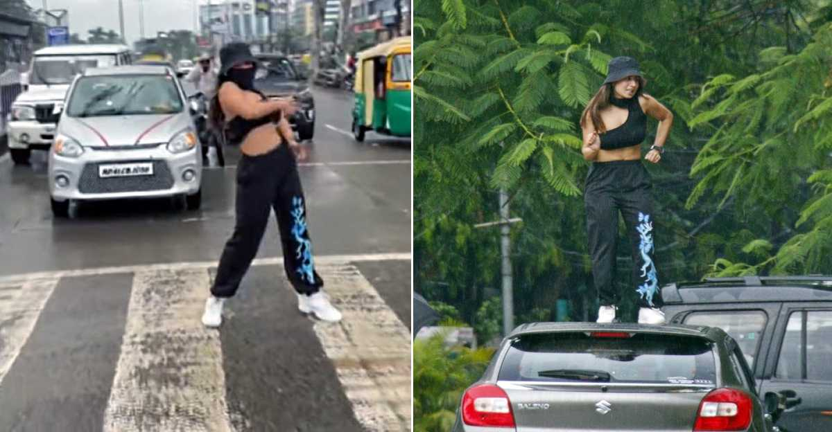 Traffic police serve notice to Instagram influencer for dancing in the middle of the road