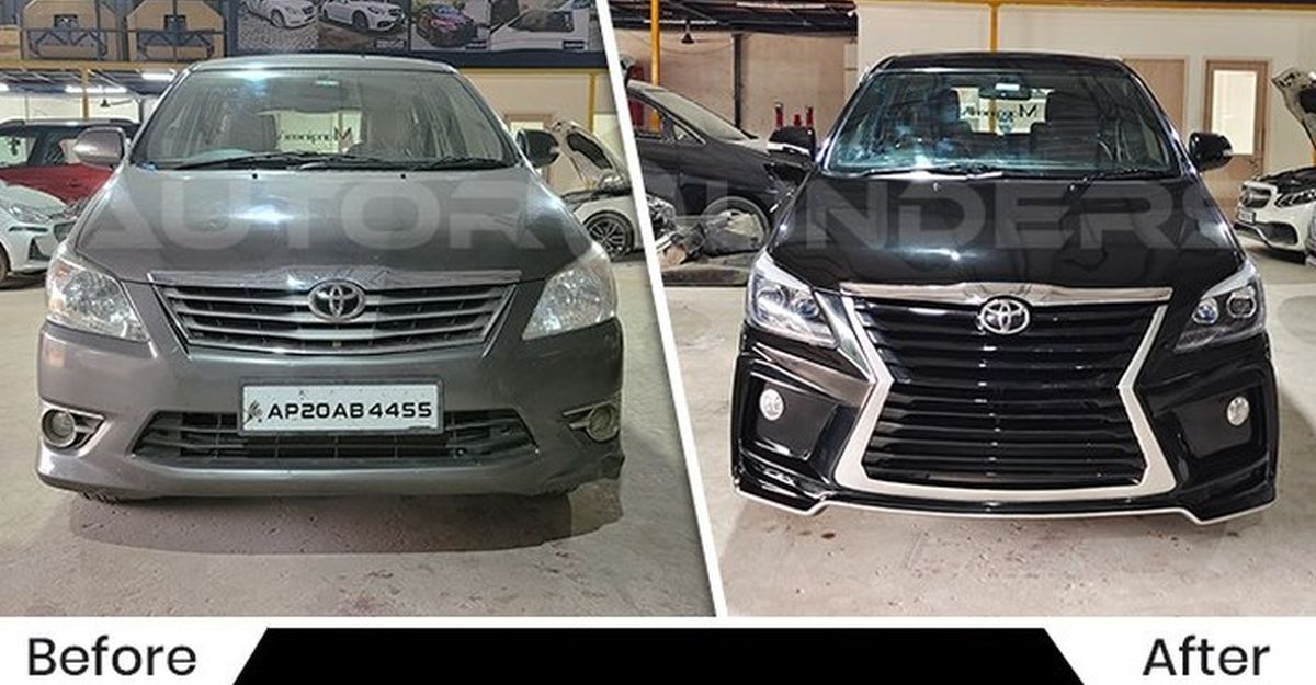 This Toyota Innova pulls off the Lexus look magnificently